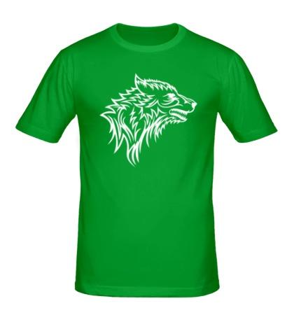 Мужская футболка Тату волк