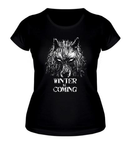 Женская футболка Winter is Coming: Wild Wolf