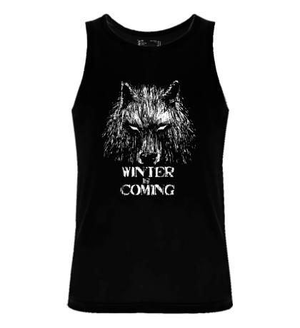 Мужская майка Winter is Coming: Wild Wolf