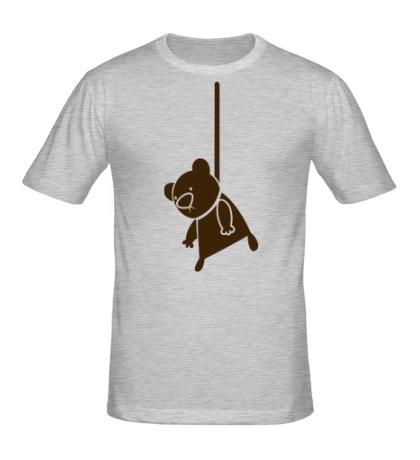 Мужская футболка Мишутка суицидник