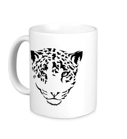 Керамическая кружка Взгляд ягуара
