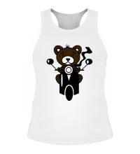 Мужская борцовка Медведь на мотороллере