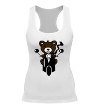 Женская борцовка Медведь на мотороллере