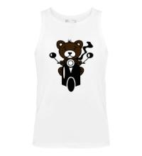 Мужская майка Медведь на мотороллере