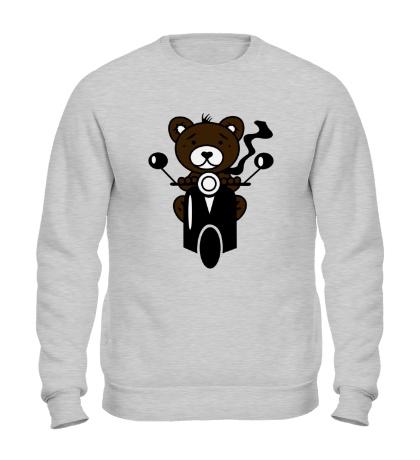 Свитшот Медведь на мотороллере