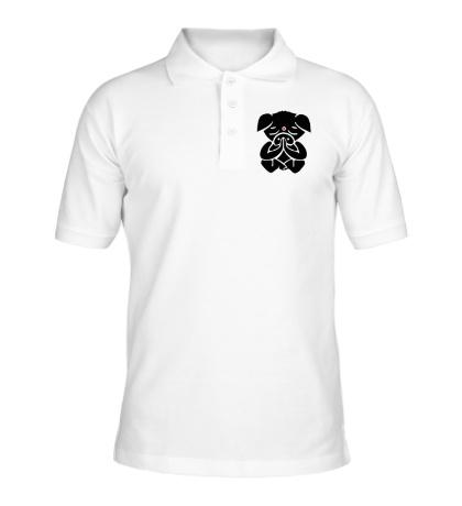 Рубашка поло Медитирующая свинка