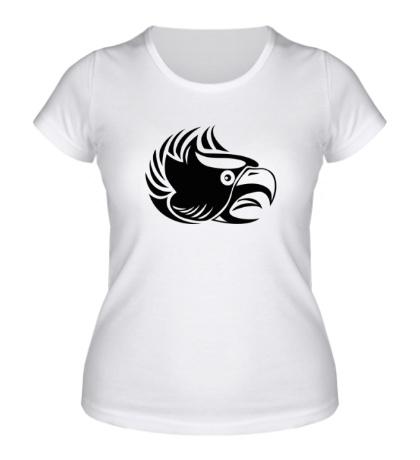Женская футболка Злой орел