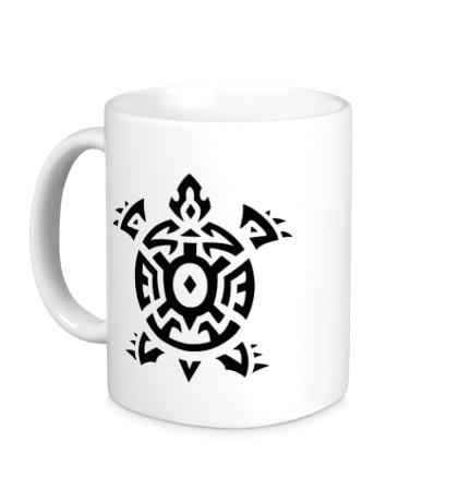 Керамическая кружка Черепаха тату