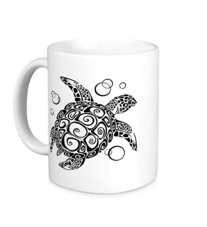 Керамическая кружка Морская черепашка