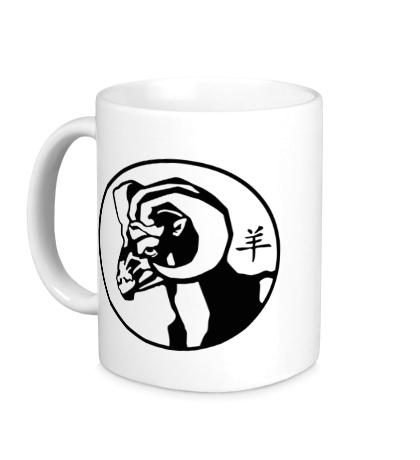 Керамическая кружка Символ овна