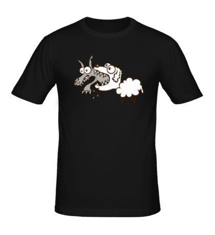 Мужская футболка Волк и овечка