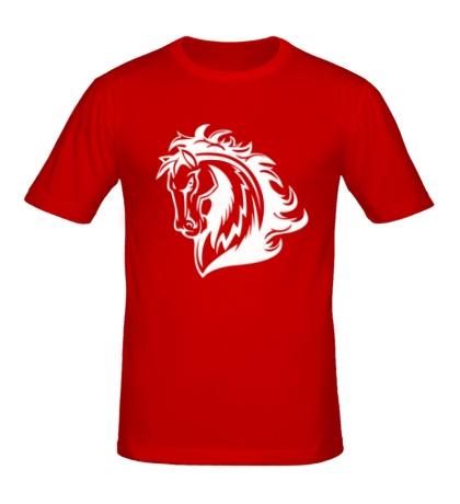 Мужская футболка Величественный конь