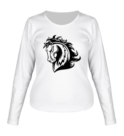 Женский лонгслив Величественный конь
