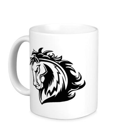 Керамическая кружка Величественный конь