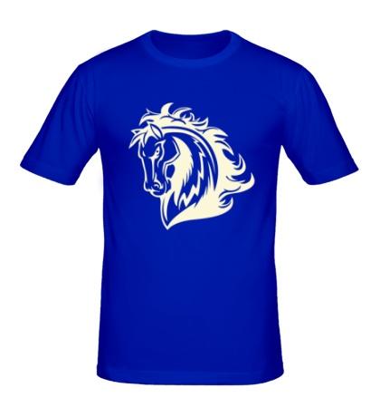 Мужская футболка Величественный конь свет