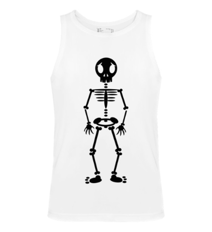 Мужская майка Веселый скелет