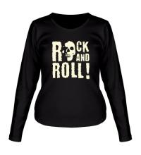 Женский лонгслив Rock and Roll Glow