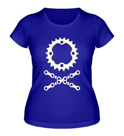 Женская футболка Цепь и звездочка свет