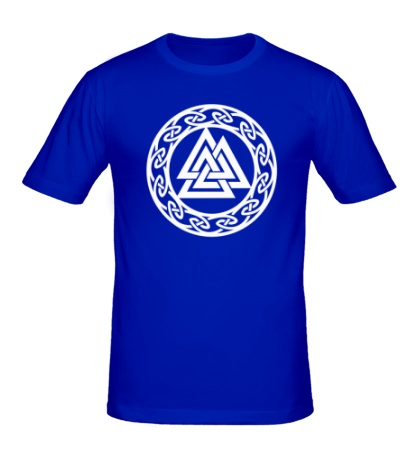 Мужская футболка Валькнут: символ Одина