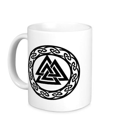 Керамическая кружка Валькнут: символ Одина