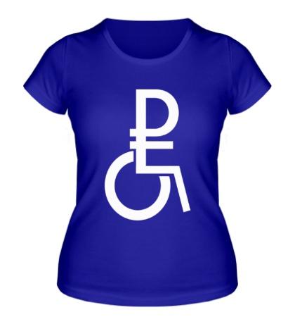 Женская футболка Рубль в коляске