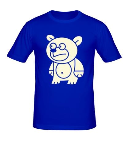Мужская футболка Странный мишка свет