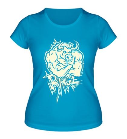 Женская футболка Rage ярость свет
