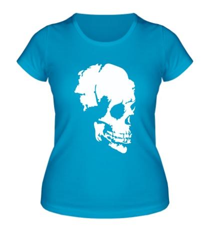 Женская футболка Древний череп