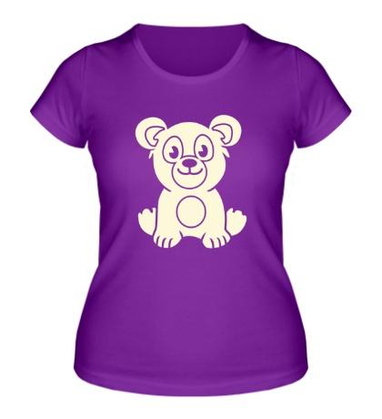 Женская футболка Мишутка свет