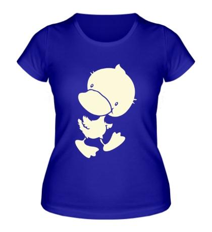 Женская футболка Забавный утенок, свет