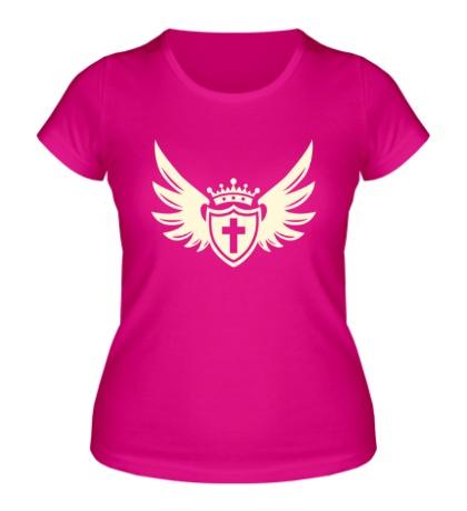 Женская футболка Щит веры свет
