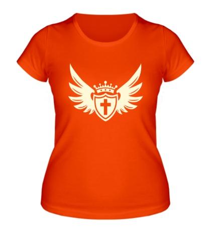 Женская футболка «Щит веры свет»
