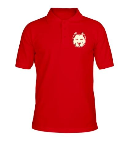Рубашка поло Суровый пёс свет