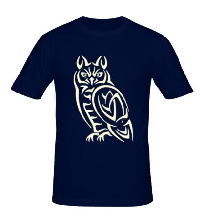 Мужская футболка Кельтская сова, свет