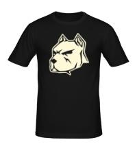 Мужская футболка Пёс свет
