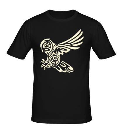 Мужская футболка Бросок совы свет