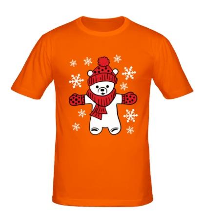 Мужская футболка Новогодний мишка