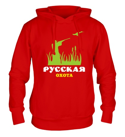 Толстовка с капюшоном Русская охота на утку