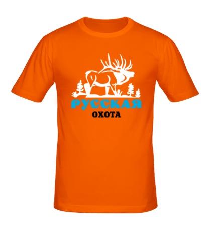 Мужская футболка Русская охота на лося