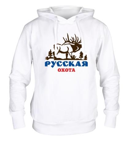 Толстовка с капюшоном Русская охота на лося