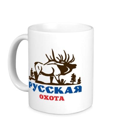 Керамическая кружка Русская охота на лося