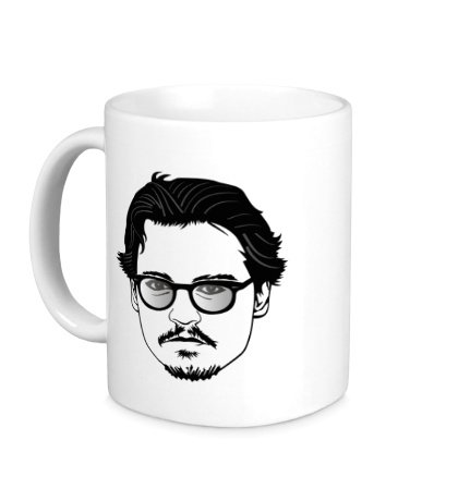Керамическая кружка Джонни Депп в очках