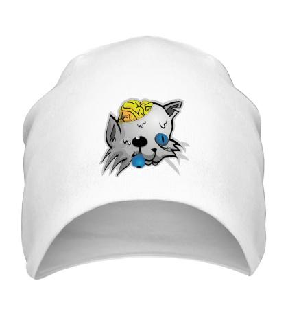 Шапка Голова кота зомби