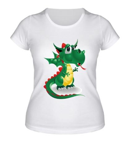 Женская футболка Милый дракоша