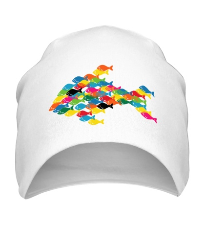 Шапка Разноцветные рыбки