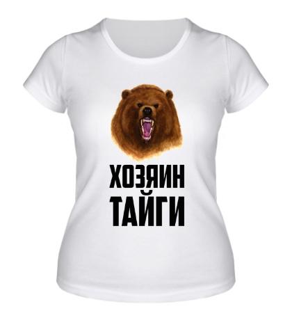 Женская футболка Хозяин тайги