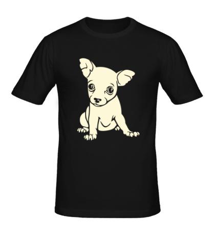 Мужская футболка Щеночек свет