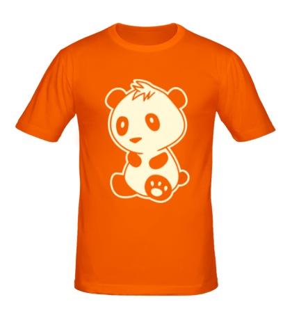 Мужская футболка Маленькая панда, свет