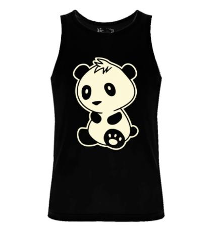 Мужская майка Маленькая панда, свет