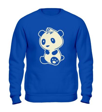Свитшот Маленькая панда, свет